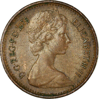 [#756328] Coin, Great Britain, Elizabeth II, 1/2 New Penny, 1975, EF(40-45)