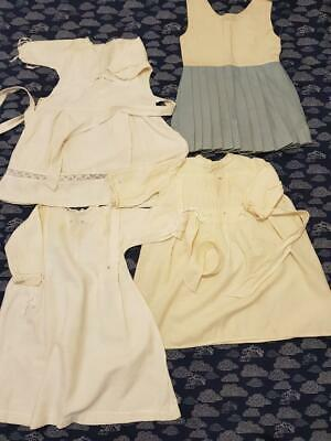 Vintage 50s/60s Baby Clothes: 4 Dresses Lace Embroidery Pleats Handmade Preowned