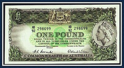vUnc. Quality One Pound Banknote 1953 HD/92-298699 R-33. CofA