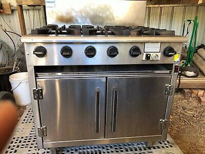 Commercial Complete 6 Open Burner Six Burners Lpg Gas Oven Range Stove