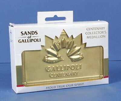 Sands Of Gallipoli 2015 Centenary Medal, vial of Gallipoli Sand,  special tin