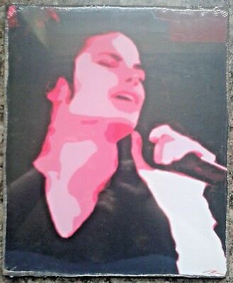 "Michael Jackson Pop Art Picture 12"" x 10"" on Wood NEW & SEALED King Of Pop"