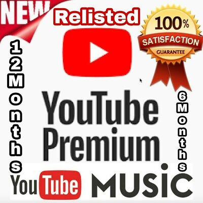 ✅ 6-12 Months Youtube Premium & Youtube Music✅New Account or Upgrade✅ WORLDWIDE