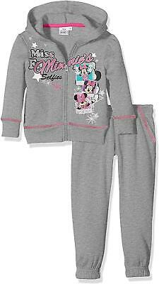 Girls Disney Minnie Mouse Tracksuit / Jogging Set Grey
