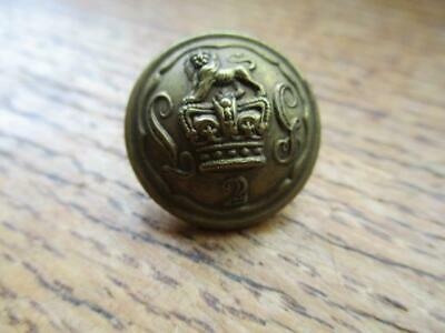Original 19th British military uniform Button 2nd Life Guards