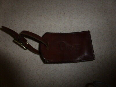 Orvis Leather Luggage Tag Brown