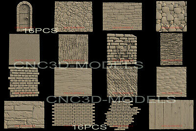 3D Model STL for CNC Router Carving Artcam Aspire Wall Wood Brick Stone IS114