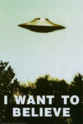 X-Files -I WANT TO BELIEVE-UFO POSTER 24X36