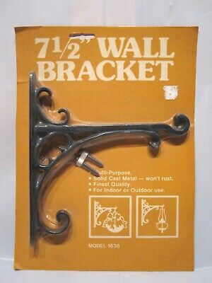 Vintage Cast Iron Wall Bracket Plant Hanger Hook 7-1/2 inch NEW OLD STOCK