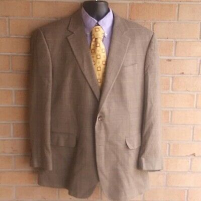 Jos. A Bank Classic Collection Wool Blend Gray Sport Blazer Jacket Size 44 R