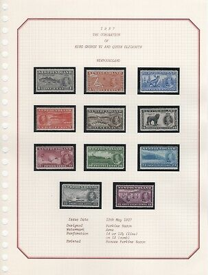 1937 KING GEORGE VIth CORONATION STAMPS. COMPLETE COLLECTION UNMOUNTED MINT.