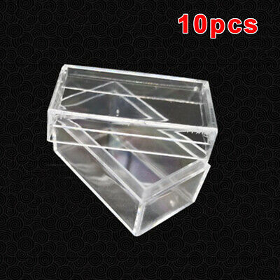 10* 27mm Clear Round Plastic Coin Capsule Container Storage Box Holder Case