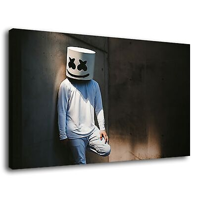 Marshmello Electronic Producer Artist Dj Lounging Canvas Wall Art Picture Print