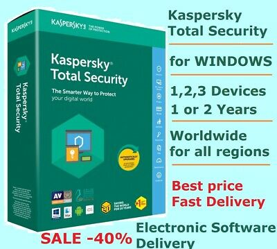 Kaspersky Total Security 2020 Windows 1/2 Years for 1/2/3 PC Device Global Key