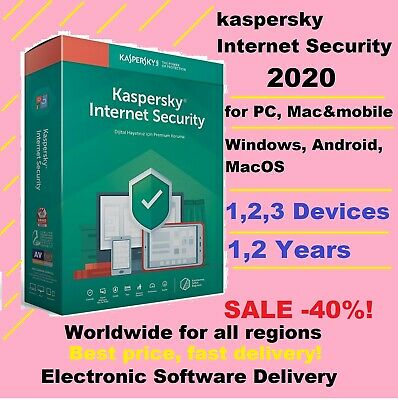 Kaspersky Internet Security 2020 Multi 1/2 Years for 1/2/3 PC Device Global Key