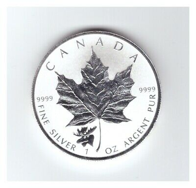 2017 CANADA 1 oz .9999 SILVER Reverse Proof $5 MAPLE LEAF with MOOSE PRIVY MARK