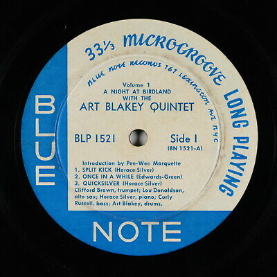 Art Blakey - A Night At Birdland Vol. 1 LP - Blue Note Mono DG RVG Ear 767 LEX