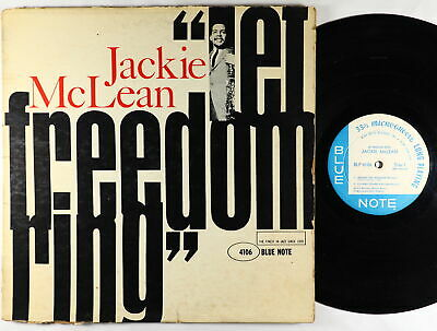 Jackie McLean - Let Freedom Ring LP - Blue Note BLP 4106 Mono DG RVG Ear NY USA