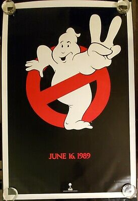 Original 27x41 rolled movie poster Ghostbusters II 2 1989 advance B 1SH classic!