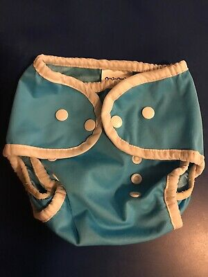 Thirsties Diaper Cover Duo Wrap - Size 1 - Ocean Blue - Snaps