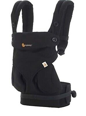 Ergobaby Four Position 360-Black With Infant Insert- Excellent Condition