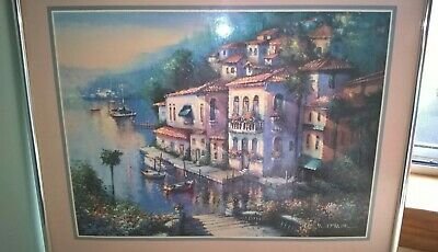 Paul Mathenia  'Steps To The Water' Art Print,  Prof. Framed, Gc. Vintage