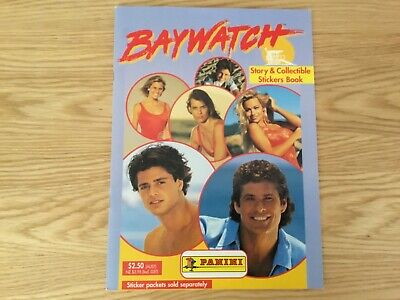 BAYWATCH STICKER ALBUM COMPLETE WITH ALL STICKERS (Inserted) By PANINI