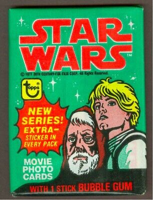 1977 Topps Star Wars Series 4 Wax Pack, From Bbce Sealed Wax Box (C-3Po Error?)