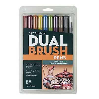 Tombow Dual Brush Pen Art Markers - Muted Palette 10-Pack