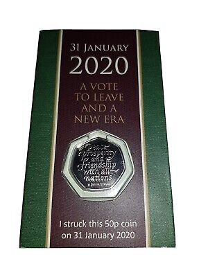 Strike Your Own 2020 Brexit 50p Coin 31st January Dated Packaging SYO Royal Mint