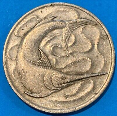 1968 Singapore 20 Cents Swordfish Coin