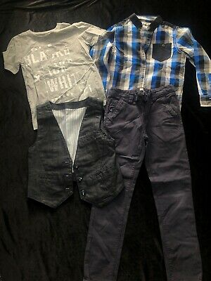 Boys Marks & Spencer's Next Shirt, T-shirt, Waist Coat ,And Jeans Size 6-7 Years