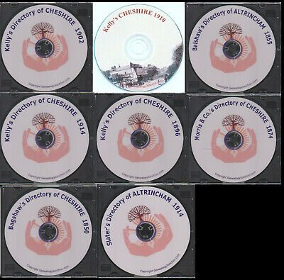 CHESHIRE KELLY's DIRECTORY 1902, 1910, 1914 Genealogy CD - select option