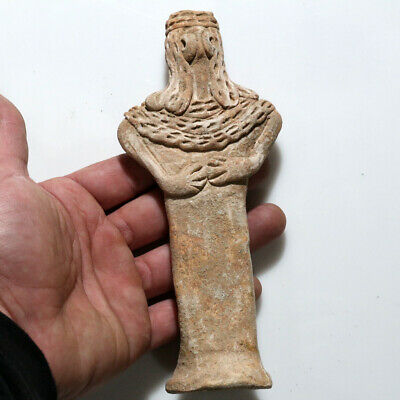 Ancient Syro-Hittite Terracotta Fertility Female Idol / Figurine Circa 1200-800