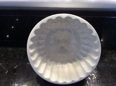 CAT FACE JELLY MOULD - Unusual Vintage CERAMIC MOULD