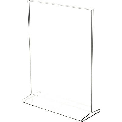 """Plymor Clear Acrylic Sign Display / Literature Holder (Top-Load), 9"""" W x 12"""" H"""
