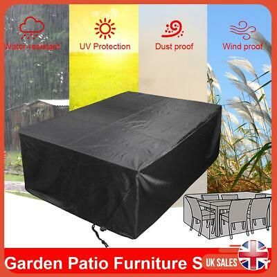 Extra Large Garden Furniture Cover Rattan Table Cube Outdoor Waterproof Black UK