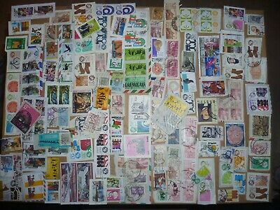 40 grams mixtures Mexico stamps on single paper kiloware