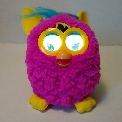 Furby 2012 Hot Pink Flare Yellow Blue Works Talking Lighted Eyes Interactive