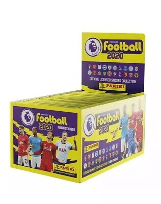Sealed FULL BOX 100 packets of Football 2020 Stickers Premier League PANINI