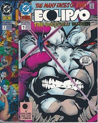 DC Comics 1992 ECLIPSO: THE DARKNESS WITHIN SPECIAL #1 & #2 VF Set Lot Bundle