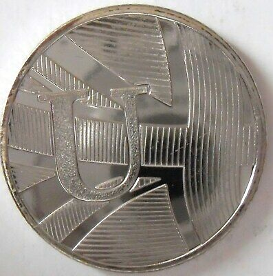 A to Z 10 Pence coin U for Union Flag, Not today Brexit is dividing  the Way.,