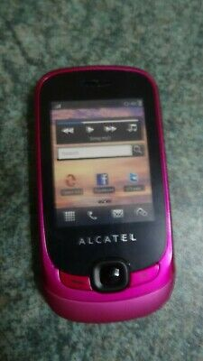 Fuschia Alcatel dummy mobile phone