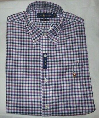 Nwt Mens Polo Ralph Lauren L/S Button-Up Shirt~Slim Fit~Med