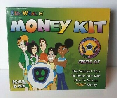 """Kid$ Wealth Money Kit Purple Kit """"How to Teach Your Kids to Manage Money"""" NOB"""