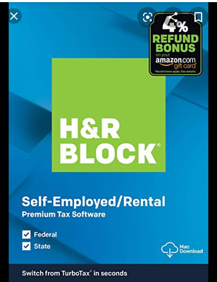 H&R Block PREMIUM 2019 Tax Software_Fed Efile: Download Link+Code by Email