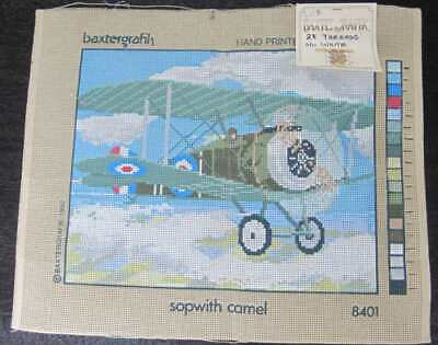 "Tapestry Canvas to stitch, Vintage aeroplane, "" Sopwith Camel """