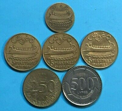 6 Etat Du Grand Liban Coins.