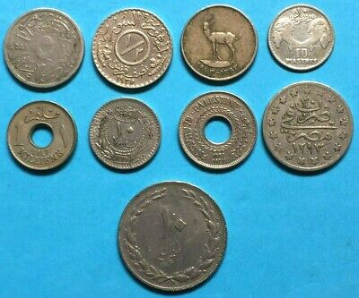 9 Middle Eastern Coins.