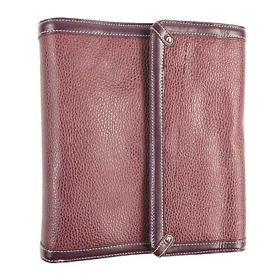 FRANKLIN COVEY brown/purple leather planner
